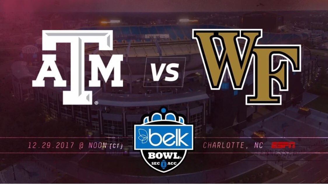 Come on Aggies, #BTHOWakeForest