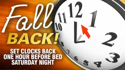 Daylight Savings Time ends this Sunday!